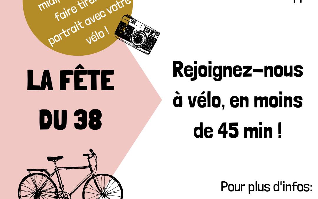 Tou.te.s à vélo à la Fête du 38 !